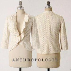 Anthropologie TABITHA $118 puckered Eyelet Jacket